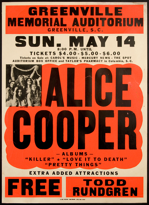 Image result for alice cooper vintage poster
