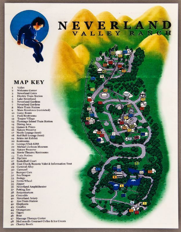 lot detail michael jackson neverland map