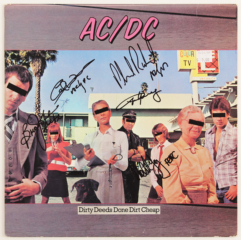 "Lot Detail - AC/DC Signed ""Dirty Deeds Done Dirt Cheap"" Album"
