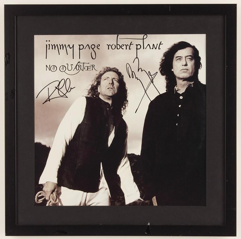Lot detail jimmy page amp robert plant signed quot no quarter quot album