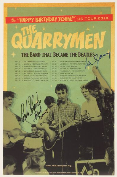 Beatles Quarrymen Signed Poster