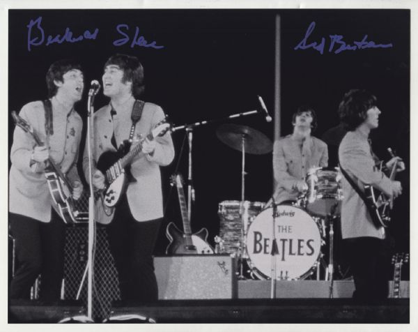 Sid Bernstein Signed Beatles Shea Stadium 11 x 14 Photograph