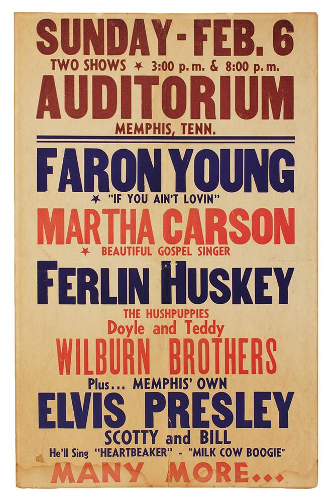 lot detail elvis presley original 1955 vintage concert