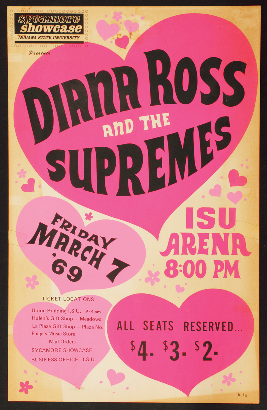 Diana Ross and The Supremes Concert Poster