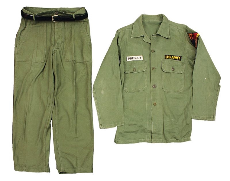 Elvis Presley Worn Army Fatigues