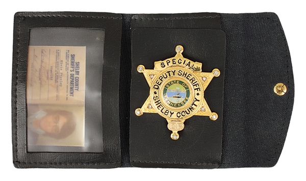 Elvis Presley Owned Original Shelby County Special Deputy Sheriff's Badge