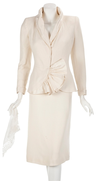 Madonna Evita Film Worn White Two-Piece Wedding Skirt Suit and Lingerie