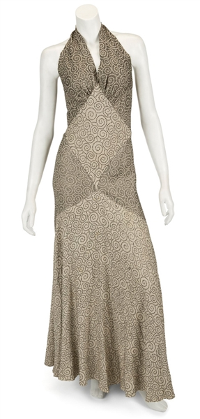 "Madonna Evita Film Worn Long Halter Neck Gown From Musical Number ""Goodnight and Thank You"""