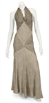 "Madonna ""Evita"" Film Worn Long Halter Neck Gown From Musical Number ""Goodnight and Thank You"""