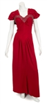 "Madonna ""Evita"" Film Worn Long Red Dress With Rhinestones From Musical Number ""Peron's Latest Flame"""