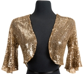 "Madonna ""Re-Invention Tour"" Poster and Advertisement Worn Vintage Gold Sequin Bolero Jacket Also Worn for Tour Program Photo Shoot"