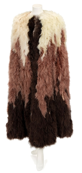 Madonna The Next Best Thing Film Worn Marabou Feather Coat