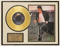 "Michael Jackson ""Billie Jean"" Signed With Handwritten Lyrics Gold Record Award"