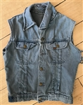 "Bruce Springsteen ""Born In The U.S.A."" Stage Worn Blue Denim Vest"