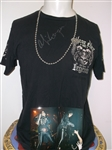 Alice Cooper Stage Worn Necklace and Personally Owned and Worn Signed Shirt