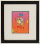"Peter Max Signed ""Profile II"" Original Artwork"