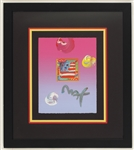 "Peter Max Signed ""Flag"" Original Artwork"