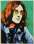 John Lennon Original Oil Painting Signed by Artist Monrock
