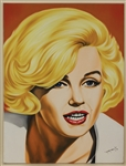 Marilyn Monroe Original Oil Painting Signed by Artist Monrock