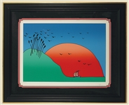 "Peter Max Signed ""Morning Arrival"" Original Serigraph"