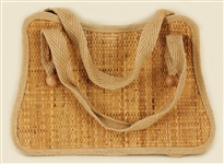 Liza Minelli Owned and Used Straw Handbag