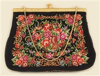 Liza Minelli Owned and Used Floral Needlepoint Purse