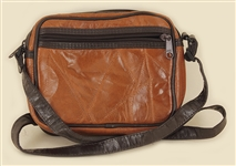 Liza Minelli Owned and Used Two Tone Brown Leather Shoulder Bag