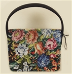Liza Minelli Owned and Used  Floral Needlepoint Handbag