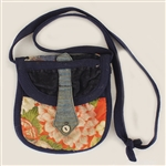 Liza Minelli Owned and Used  Blue and Orange Floral Shoulder Bag
