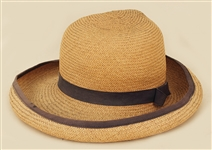 Liza Minelli Owned and Worn Straw Hat with Brown Band