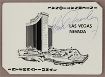 Elvis Presley Signed & Inscribed Personally Owned  International Hotel Las Vegas Playing Cards In Wooden Box Announcing the Opening of the Hotel July 1969