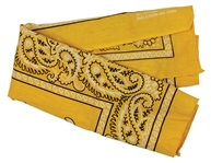 Bruce Springsteen Stage Worn Yellow Bandana