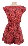 Janet Jackson Owned & Worn Pink & Red Print Romper