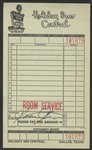 Bruce Springsteen & The E Street Band Clarence Clemens Signed Holiday Inn Room Service Receipt