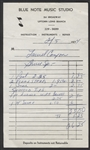 Bruce Springsteens  Personal 1974 Blue Note Music Studio Receipt