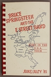 "Bruce Springsteen & The E Street Band ""Born In The U.S.A. Tour"" June/July 85 Original European  Concert Tour Itinerary Used by Danny Federici"