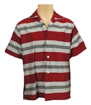 "Elvis Presley ""Jailhouse Rock"" Film Production Used Red, Grey and Black Striped Shirt"