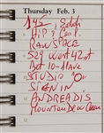 Michael Jackson Hand-Annotated MJJ Productions Date Book