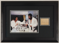 Elvis Presley and Muhammad Ali Signed Photograph Display