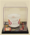 Elvis Presley Signed & Inscribed Las Vegas International Hotel Casino Bucket and Hotel Archive