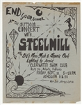 Bruce Springsteen Steel Mill 1970 Clearwater Swim Club Concert Flyer