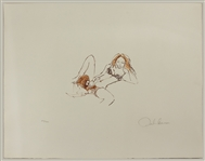 John Lennon Original Bag One Portfolio Erotic #5 Artwork Lithograph Signed and Numbered by Lennon