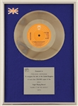 "The Jacksons ""Blame It On The Boogie"" Original BPI (U.K.) Platinum Record Award Presented to Freddy DeMann"