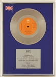 "The Jacksons ""Shake Your Body Down To The Ground"" Original BPI (U.K.) Platinum Record Award Presented to Freddy DeMann"