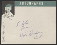 Elvis Presley 1955 Signed & Inscribed Autograph Page