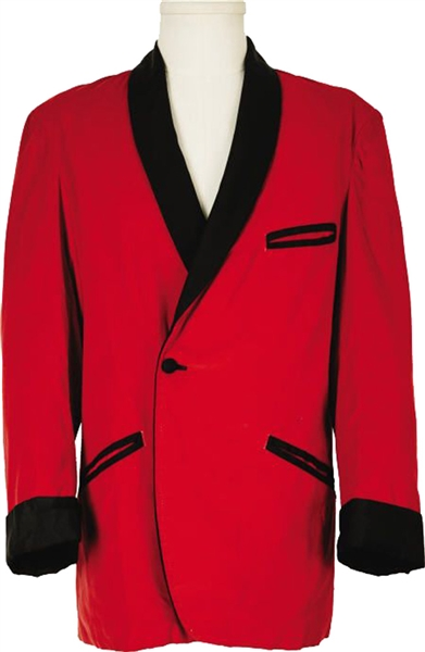 Elvis Presley 1960's Owned and Worn Red Velvet Jacket