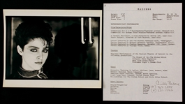 Madonna Original Resume and Head Shot