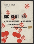 Big Beat 65 Original Concert Program Featuring The Rolling Stones and Roy Orbison