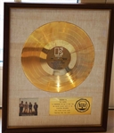"The Doors ""Waiting for the Sun"" Original RIAA White Matte  Gold Album Award Presented to The Doors"