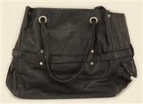 Liza Minelli Owned and Used Black Leather Handbag